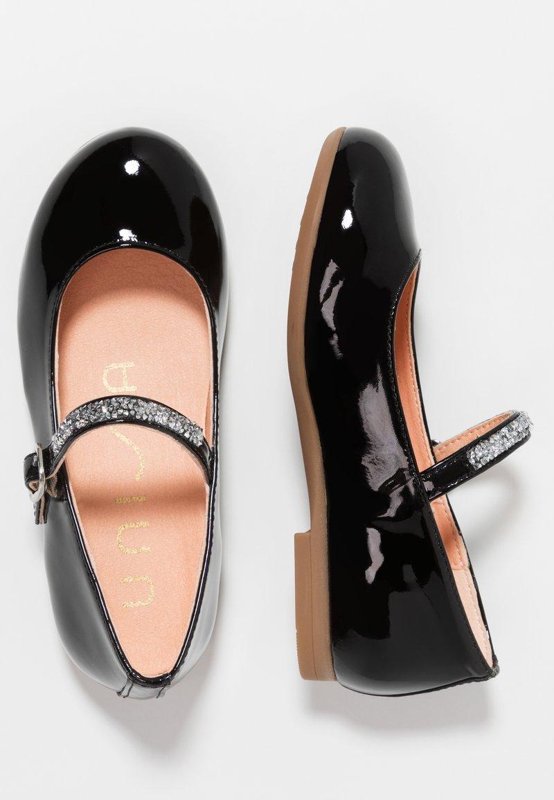 Unisa - CLERVY - Ankle strap ballet pumps - black