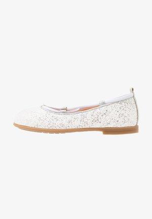 SEIMY - Ankle strap ballet pumps - white glitter
