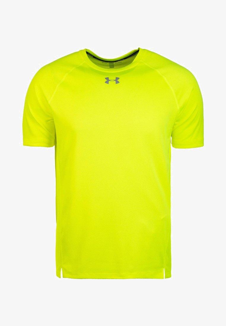 Under Armour - QUALIFIER  - Print T-shirt - yellow