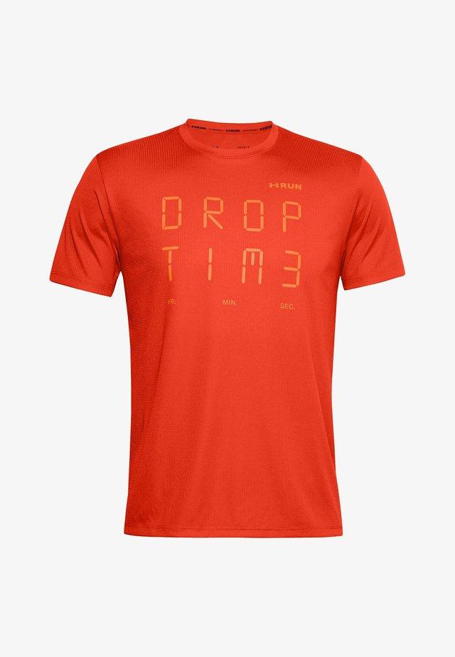 T-shirt con stampa - ultra orange