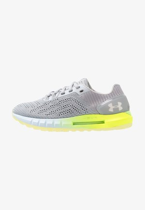 W HOVR SONIC 2 - Neutral running shoes - mod gray/high vis yellow/onyx white