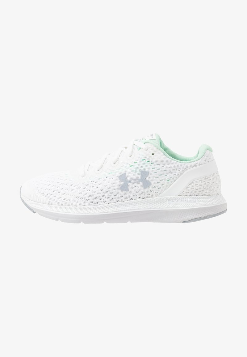 Under Armour - CHARGED IMPULSE - Obuwie do biegania treningowe - white/halo gray/mod gray