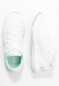 Under Armour - CHARGED IMPULSE - Obuwie do biegania treningowe - white/halo gray/mod gray - 1