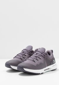 Under Armour - HOVR RISE - Obuwie treningowe - flint/white/green - 2