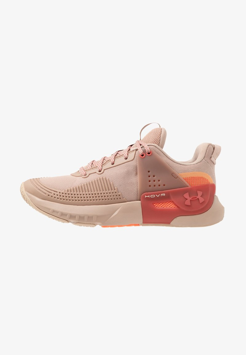 Under Armour - HOVR APEX - Sports shoes - blush beige/fractal pink