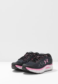 Under Armour - CHARGED INTAKE 4 - Neutral running shoes - black/halo gray/lipstick - 2