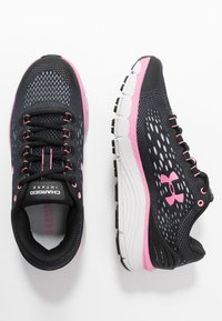 Under Armour - CHARGED INTAKE 4 - Neutral running shoes - black/halo gray/lipstick - 1