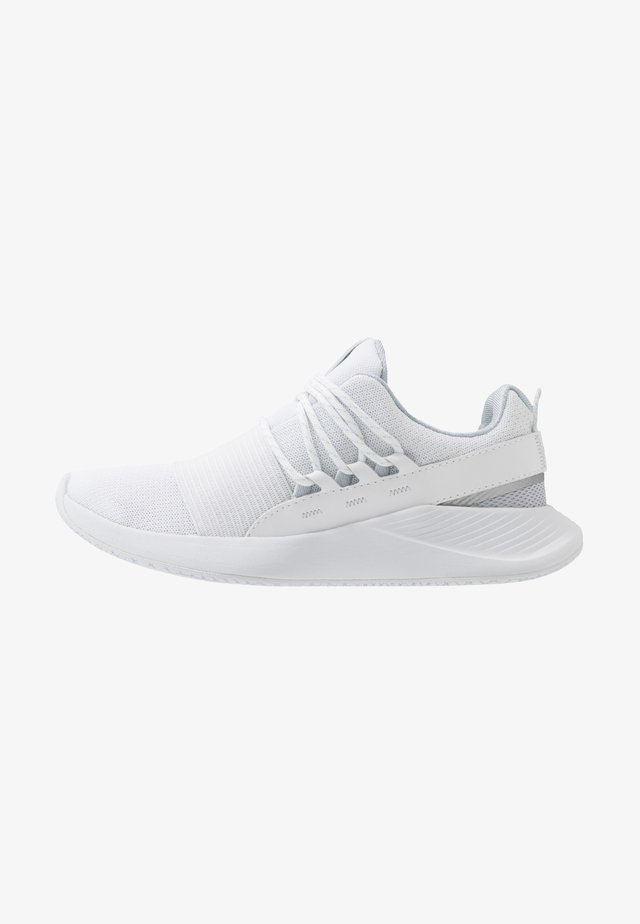 CHARGED BREATHE LACE - Zapatillas de entrenamiento - white/halo gray