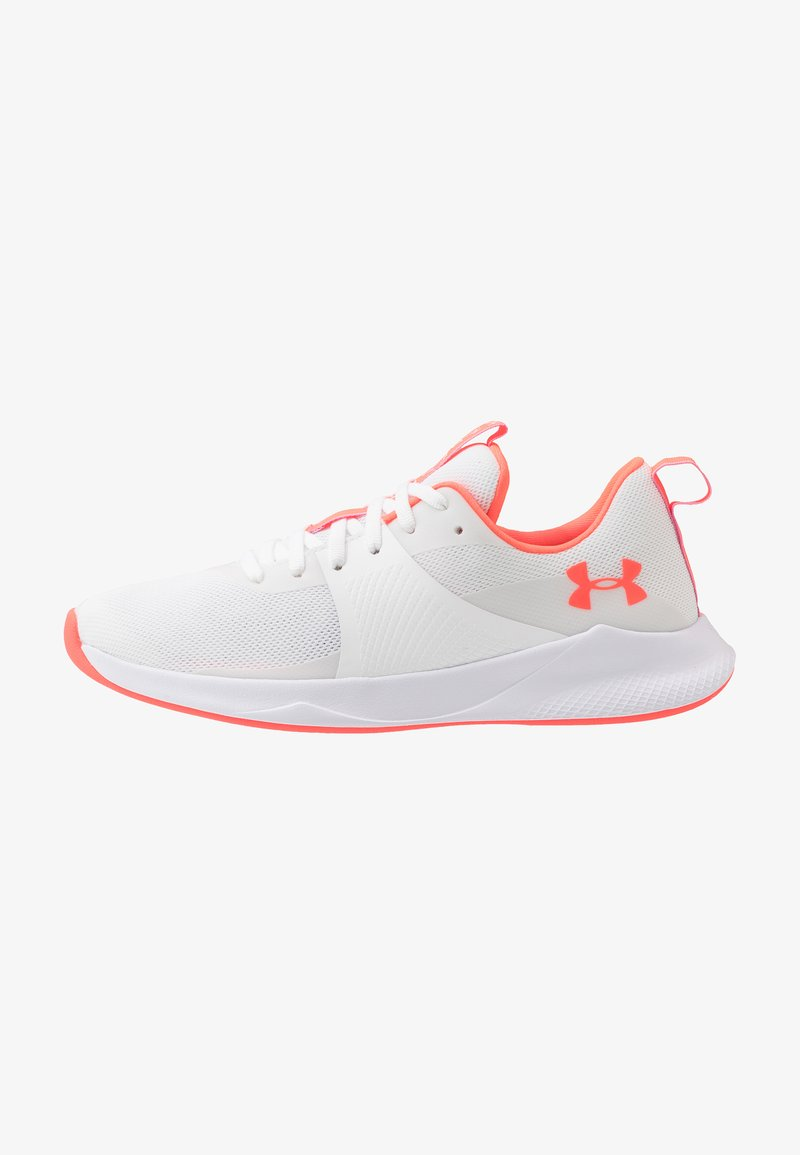 Under Armour - CHARGED AURORA - Sports shoes - white/beta