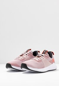 Under Armour - CHARGED AURORA - Sports shoes - dash pink/white/beta - 2