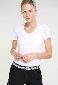 Under Armour - TECH - T-shirt basic - white - 0