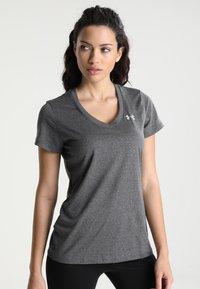 Under Armour - TECH - Basic T-shirt - carbon heather/metallic silver - 0