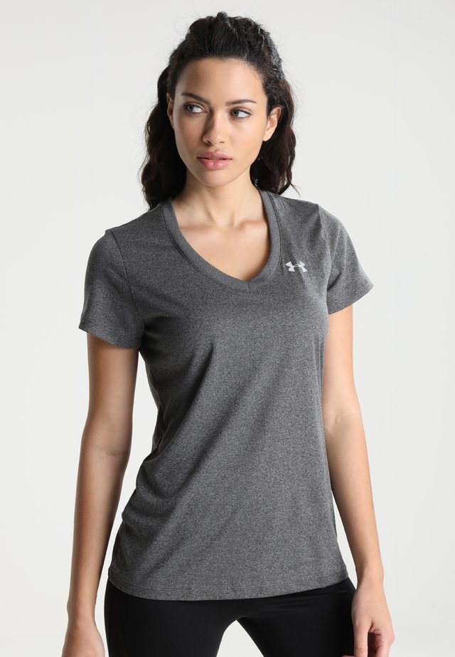 TECH - T-shirt basique - carbon heather/metallic silver