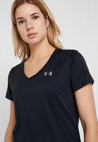 Under Armour - TECH - T-shirt basique - black/metallic silver - 3