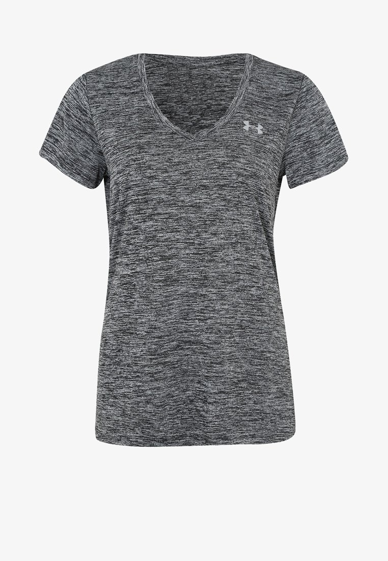 Under Armour - TWISTED TECH  - Basic T-shirt - black/metallic silver
