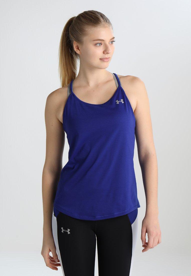 Under Armour - THREADBORNE SWYFT STRAPPY - Camiseta de deporte - formation blue