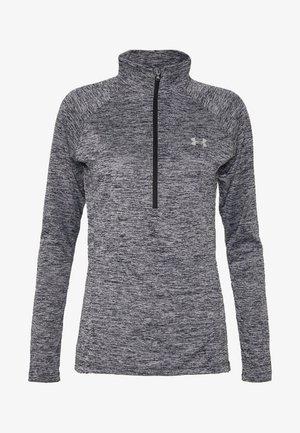 NEW TECH ZIP TWIST - T-shirt sportiva - black/metallic silver