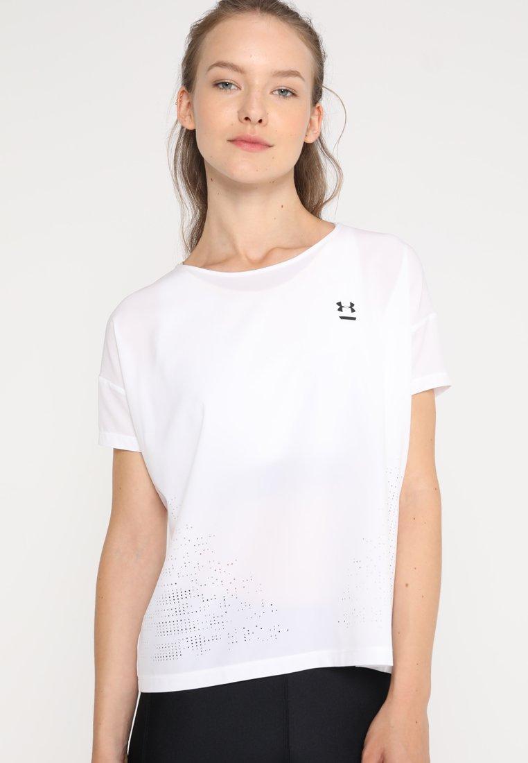 Under Armour PERPETUALSHORT SLEEVE - T-shirt basique white/tonal