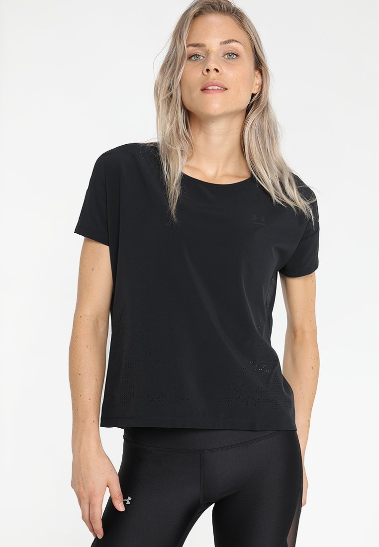 Under Armour PERPETUALSHORT SLEEVE - T-shirt basique black/tonal