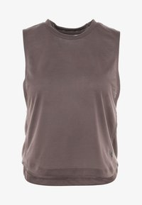 Under Armour - WHISPERLIGHT MUSCLE TANK - Sportshirt - ash taupe/impulse pink - 4