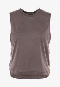 Under Armour - WHISPERLIGHT MUSCLE TANK - Treningsskjorter - ash taupe/impulse pink - 4