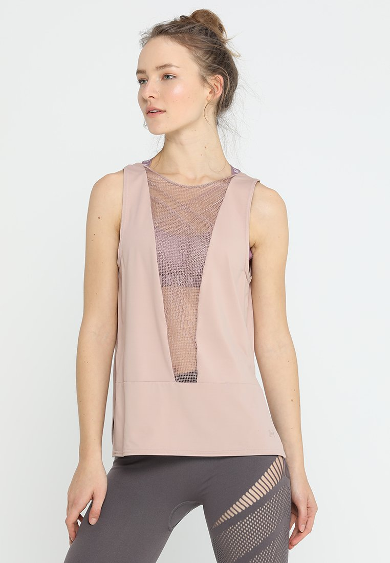 Under Armour - MISTY SIGNATURE EMBROIDERY TANK - Toppe - bashful pink/tonal