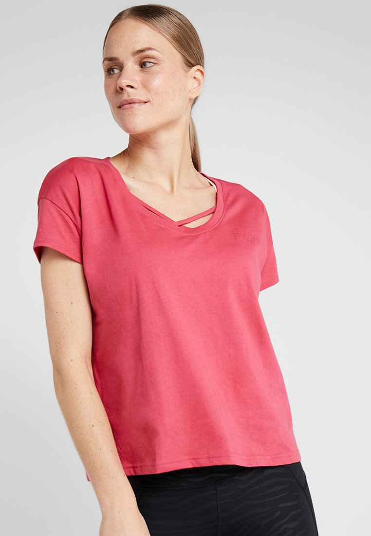 Under Armour - UNSTOPPABLE FASHION GRAPHIC - Basic T-shirt - impulse pink