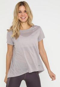 Under Armour - WHISPERLIGHT FOLDOVER - T-shirt print - tetra gray/tetra gray/tonal - 0