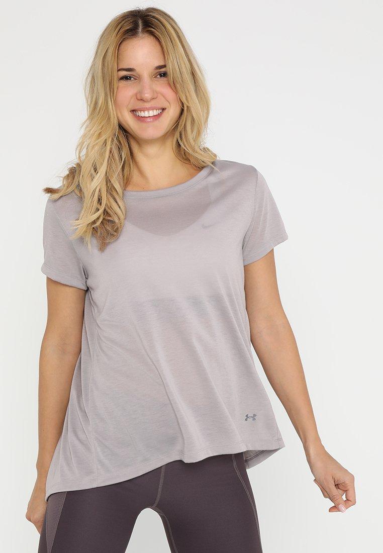 Under Armour - WHISPERLIGHT FOLDOVER - T-shirts med print - tetra gray/tetra gray/tonal