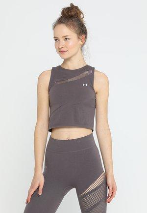 WARRIOR KNIT TANK - T-shirt sportiva - ash taupe/tonal