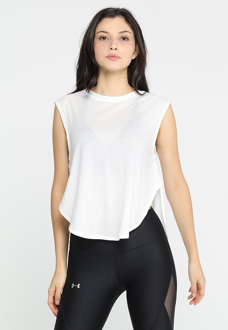 Under Armour - BREATHE DOLMAN - T-shirt basic - onyx white/tonal