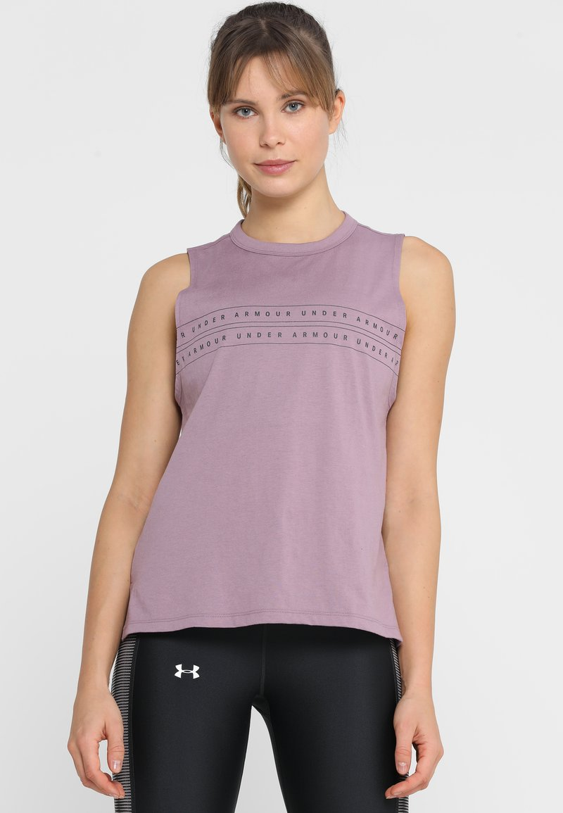 Under Armour - GRAPHIC MUSCLE TANK - Sports shirt - purple prime/jet gray