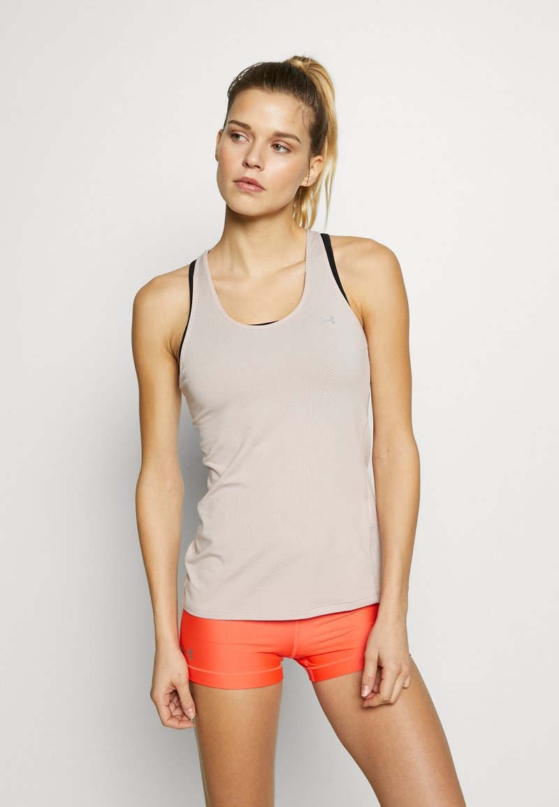 Under Armour - RACER TANK - Sports shirt - dash pink/metallic silver