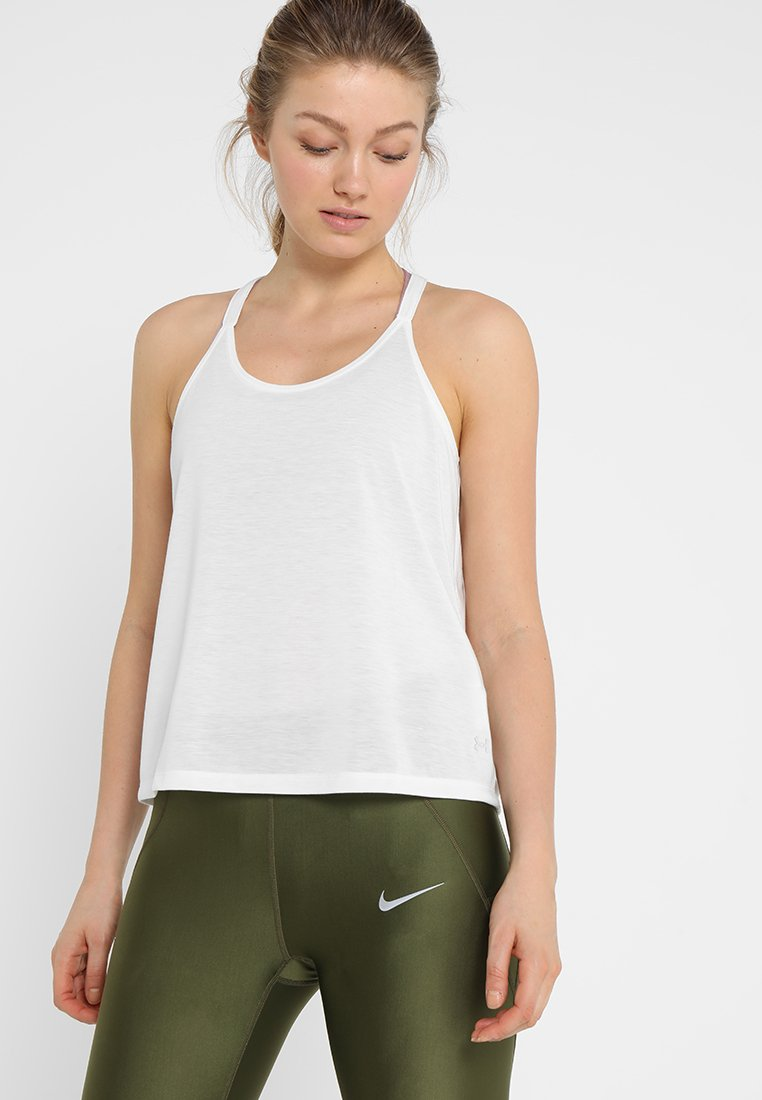 Under Armour - WHISPERLIGHT TANK FOLDOVER - Koszulka sportowa - onyx white/tonal