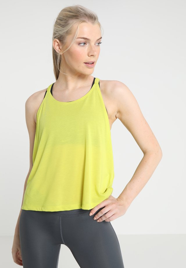 WHISPERLIGHT TANK FOLDOVER - T-shirt sportiva - lima bean/tonal