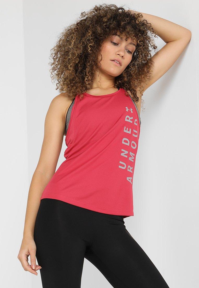 Under Armour - SPEED STRIDE SPLIT TANK - T-shirt sportiva - impulse pink