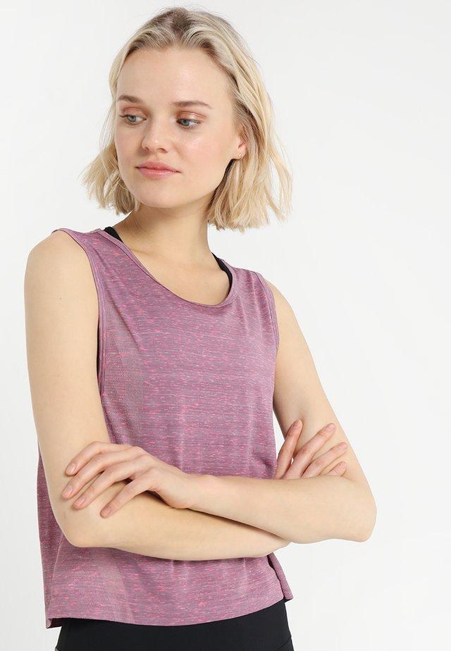 VANISH SEAMLESS SPACEDYE MUSCLE - T-shirt sportiva - purple prime/metallic silver