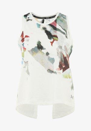 RUN TIE BACK TANK - Treningsskjorter - onyx white