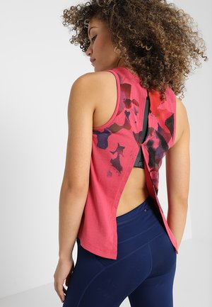 RUN TIE BACK TANK - Funktionsshirt - impulse pink