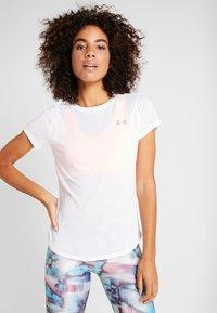 Under Armour - STREAKER - T-shirt basique - white/reflective - 0