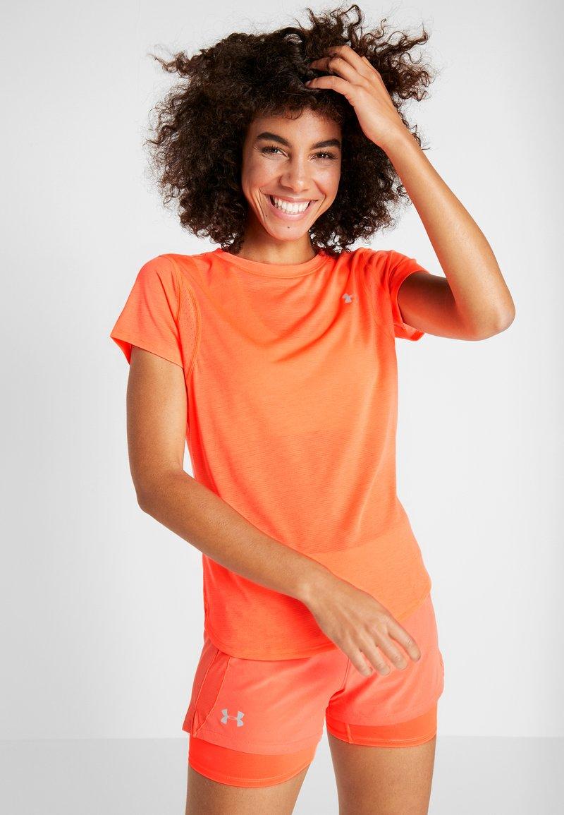 Under Armour - STREAKER - T-Shirt basic - peach plasma/reflective