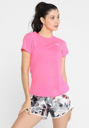 STREAKER SHORT SLEEVE - Basic T-shirt - mojo pink/mojo pink/reflective