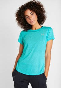 Under Armour - STREAKER - T-shirt basique - breathtaking blue/reflective - 0