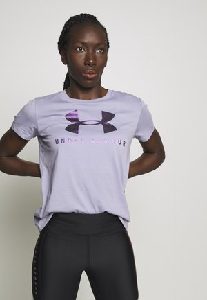 GRAPHIC SPORTSTYLE CLASSIC CREW - Print T-shirt - level purple