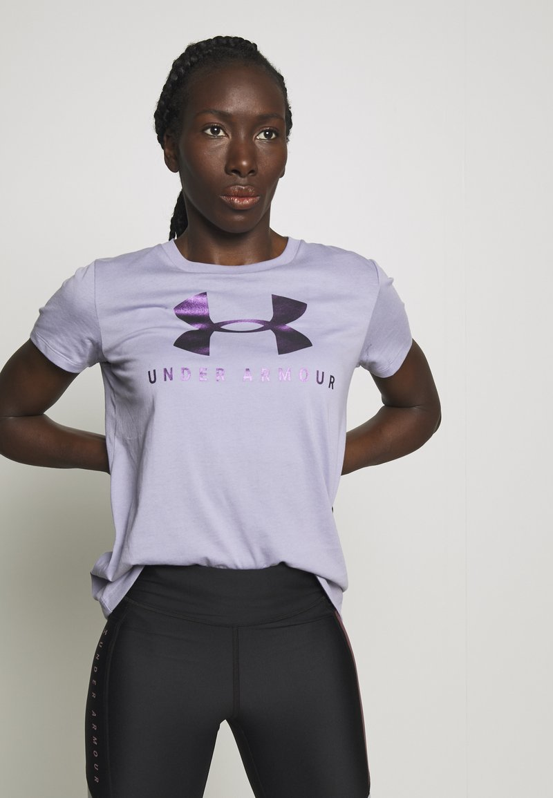 Under Armour - GRAPHIC SPORTSTYLE CLASSIC CREW - Printtipaita - level purple