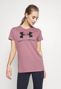 Under Armour - GRAPHIC SPORTSTYLE CLASSIC CREW - T-shirt imprimé - pink fog - 0