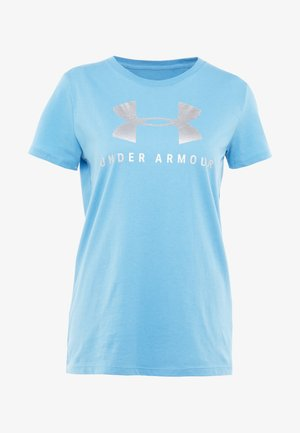 GRAPHIC SPORTSTYLE CLASSIC CREW - Print T-shirt - mobile blue/steel
