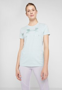 Under Armour - GRAPHIC SPORTSTYLE CLASSIC CREW - T-shirt imprimé - green light heather/onyx white - 0