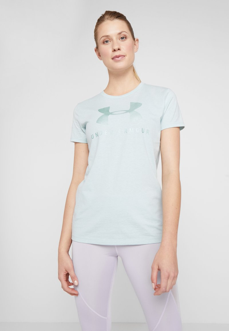Under Armour - GRAPHIC SPORTSTYLE CLASSIC CREW - T-shirt imprimé - green light heather/onyx white
