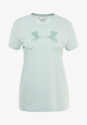 GRAPHIC SPORTSTYLE CLASSIC CREW - T-shirt print - green light heather/onyx white